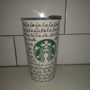 Starbucks holidays 2011 fa la la  ceramic mug